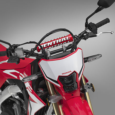 CRF450L, close up of handlebars
