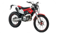 Montesa 4Ride three quarter front shot on white background, studio