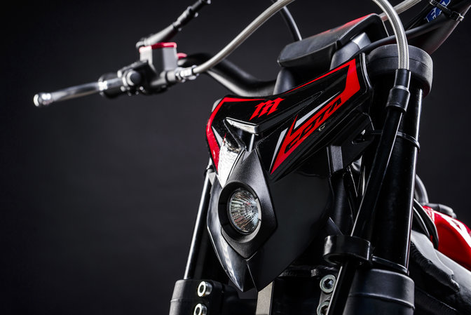 Montesa 300RR zoom on front headlight