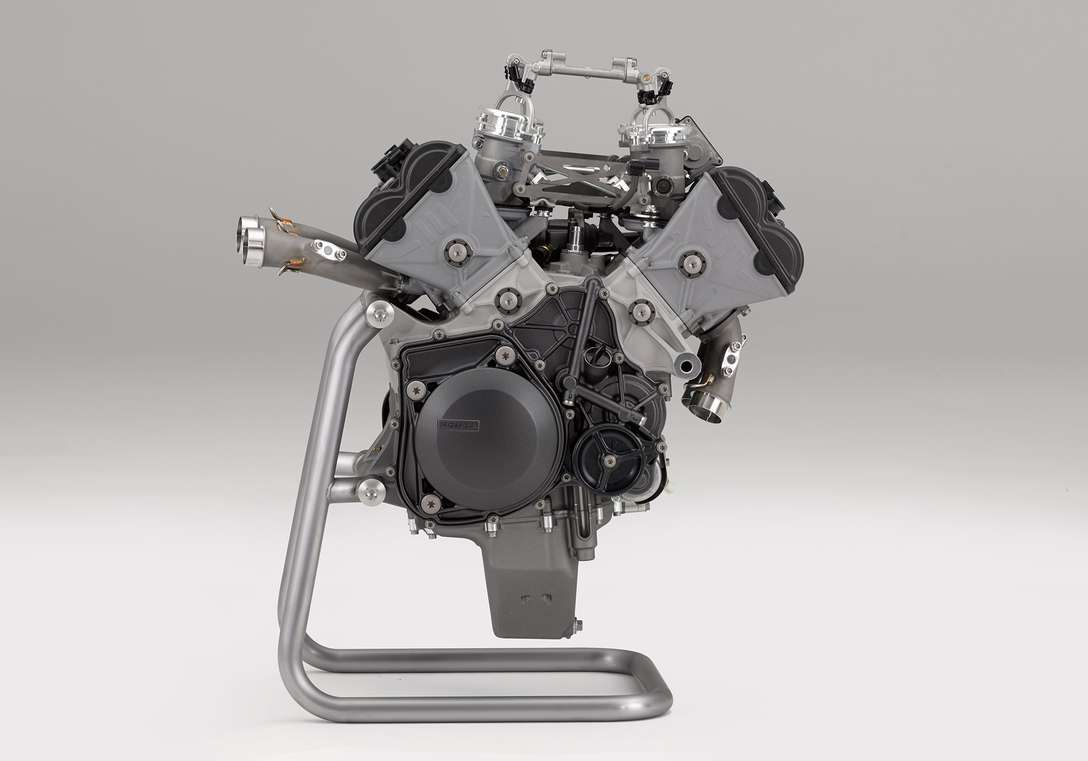 Close up view of the RC213V-S's Engine