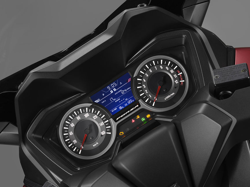 Forza 125 richer instrument panel information