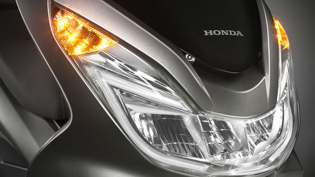 Close up of Honda motorcycle lights.