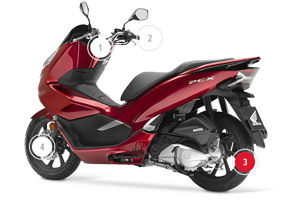 honda pcx125 honda scooters motorcycles 125cc. Black Bedroom Furniture Sets. Home Design Ideas