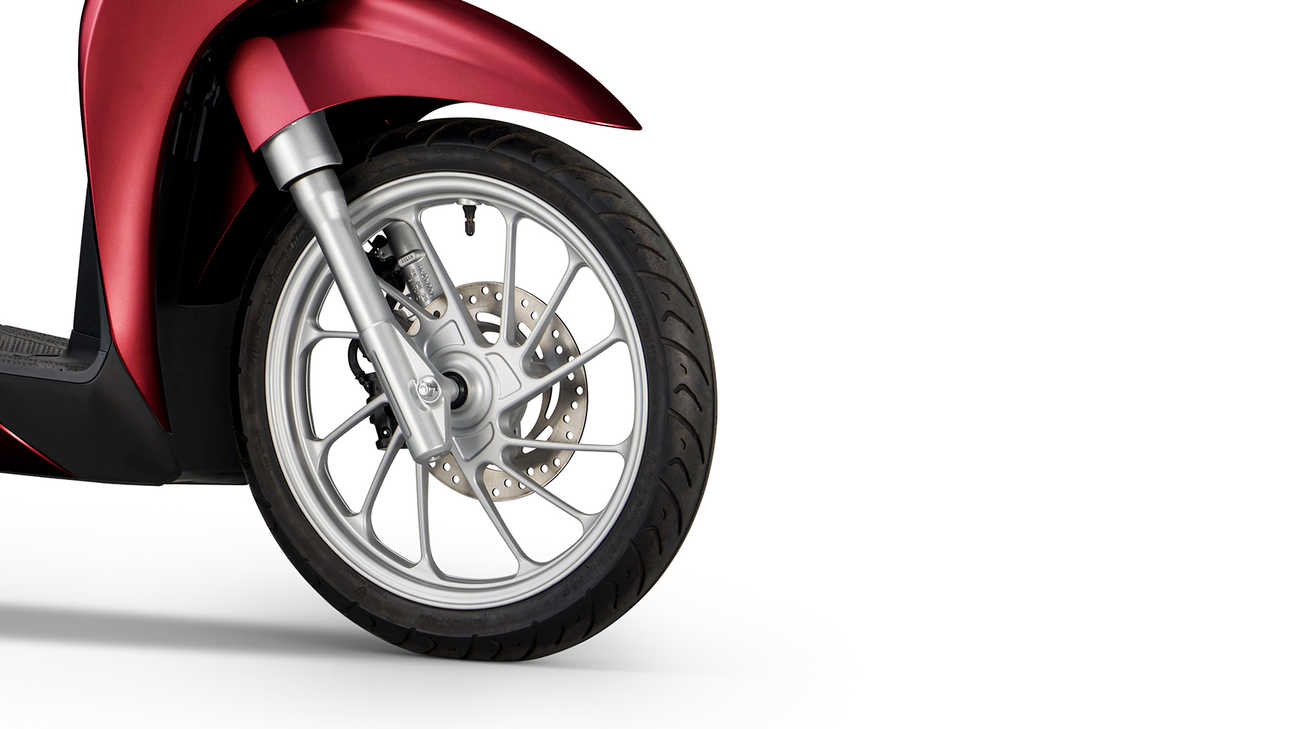 SH Mode 125, Lighter frame with new wheels and tyres