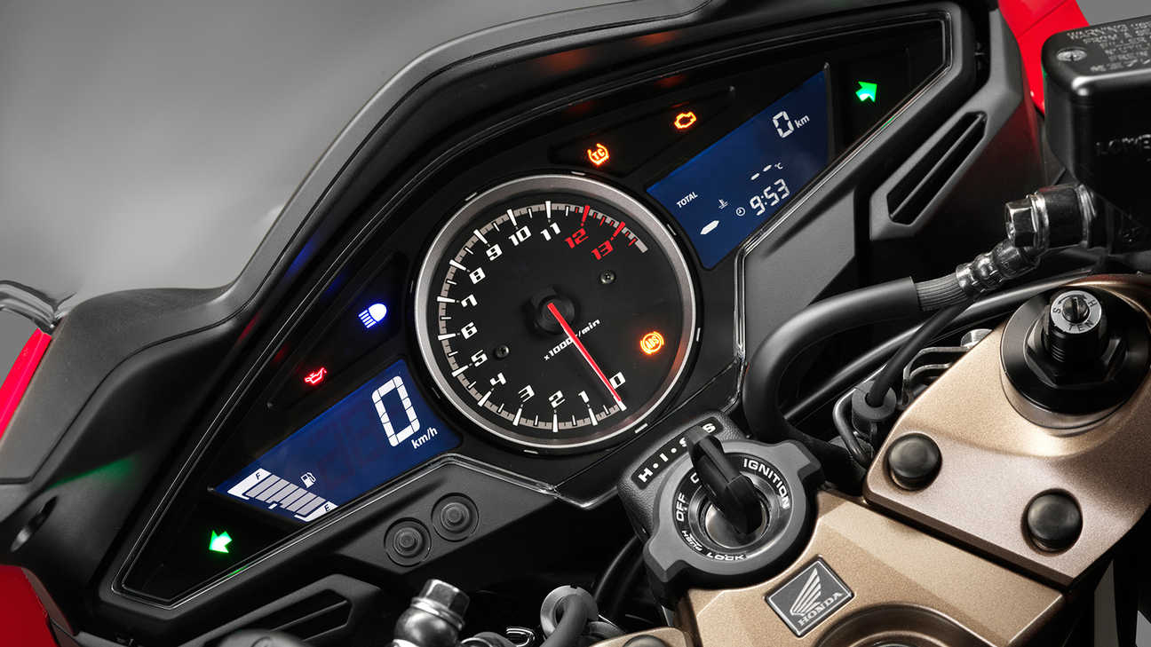 Honda-VFR800F-Tourer-Studio-Victory Red-Instrument Panel