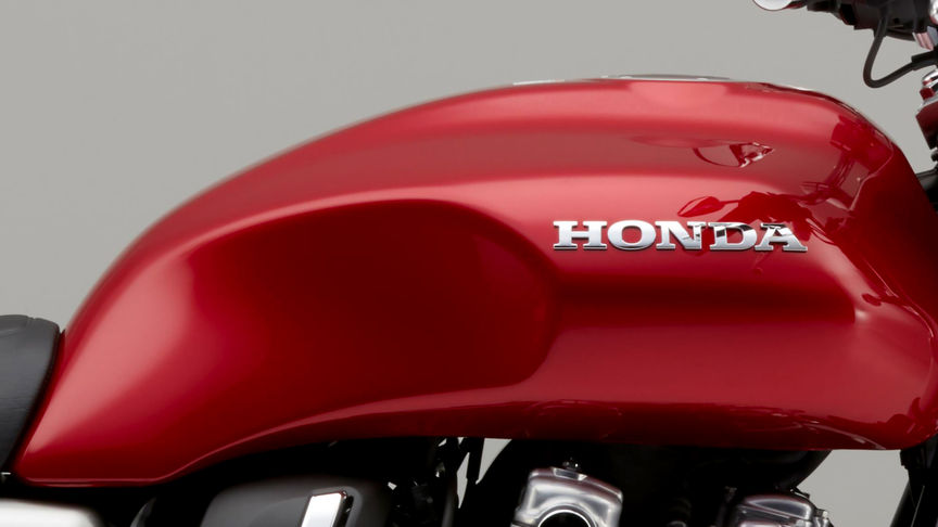 Close up shot of Honda CB1100 EX fuel tank.