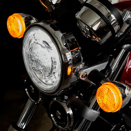 Close up shot of Honda CB1100 EX lights.