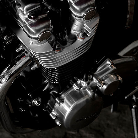 Close up shot of Honda CB1100 EX cylinder.