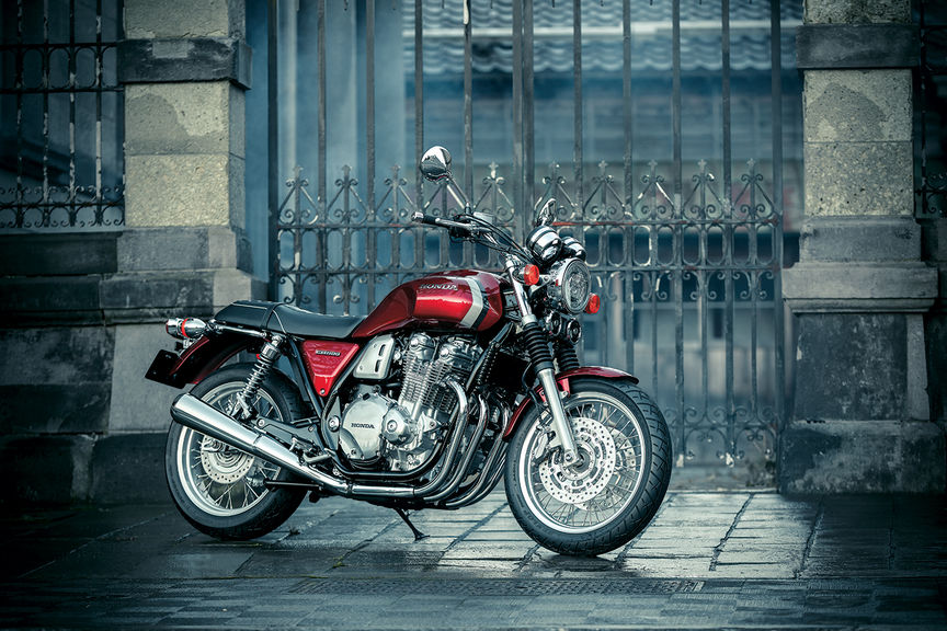 Side facing CB1100 EX.