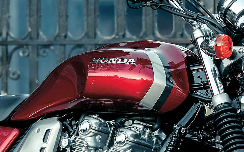 Close up shot of Honda CB1100EX fuel tank.