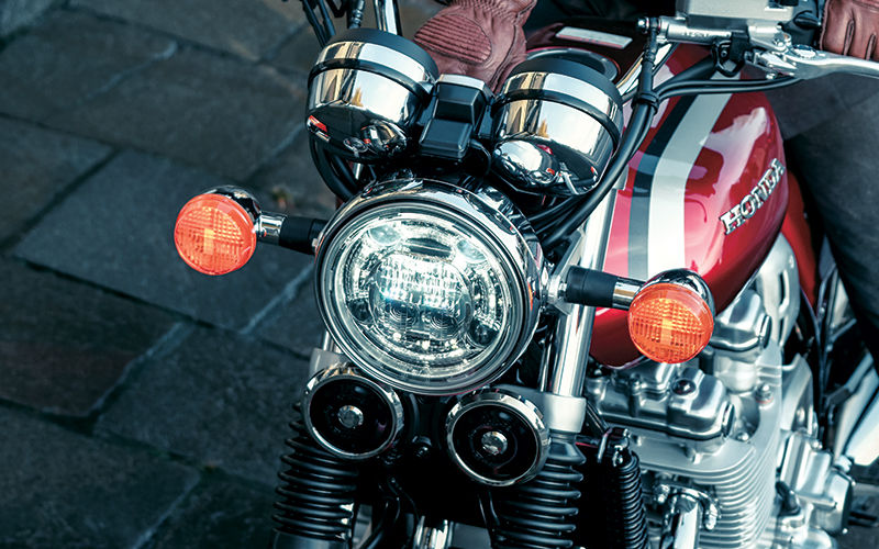 Close up shot of Honda CB1100EX lights.