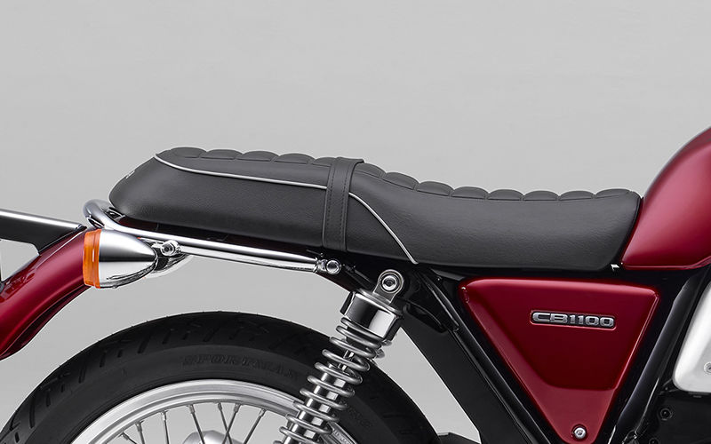 Close up shot of Honda CB1100EX seat.
