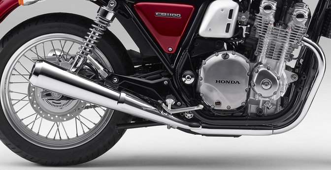 Shot of Honda CB1100 EX engine.