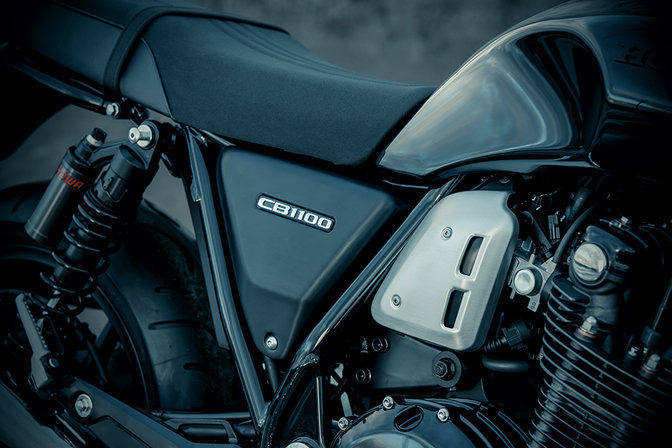Close up of Honda CB1100 RS side panel.