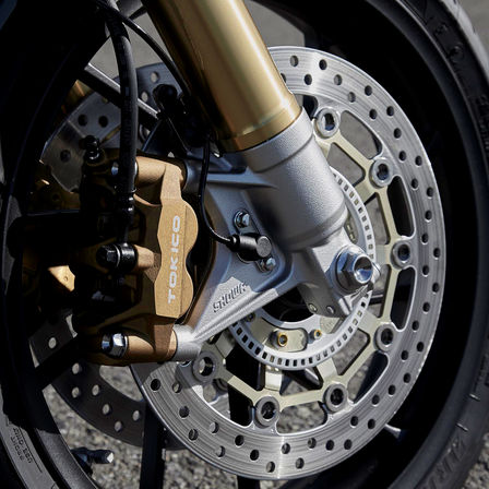 Close up of Honda CB1100 RS wheel.