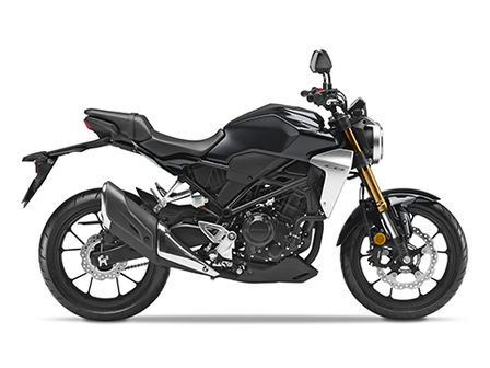 Honda CB300R Neo Sports Café black right side facing
