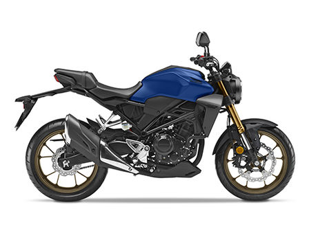 Honda CB300R Neo Sports Café blue right side facing