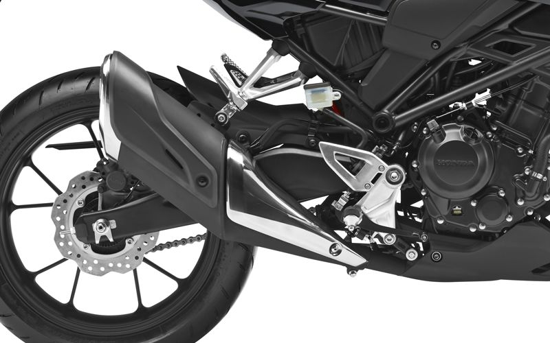 Honda CB300R Neo Sports Café zoom on exhaust pipe