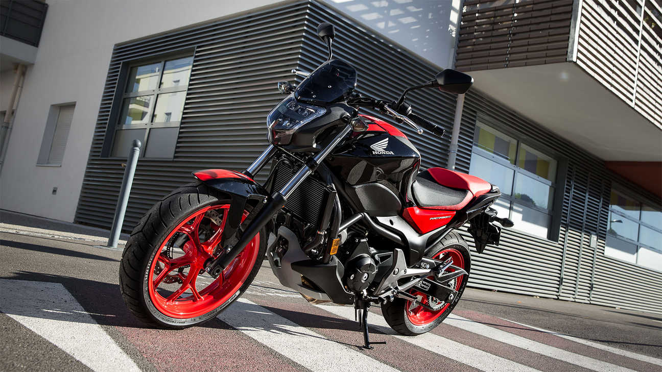 red and black freestanding NC750S