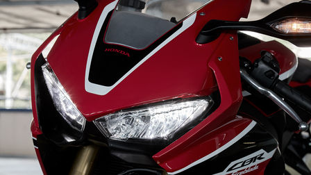 Close up of Honda CBR1000RR Fireblade LED lights.
