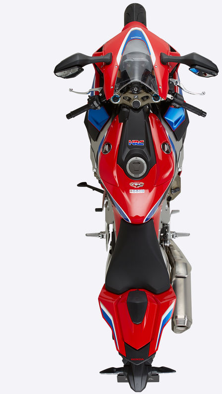 Birds eye view of Honda Fireblade.