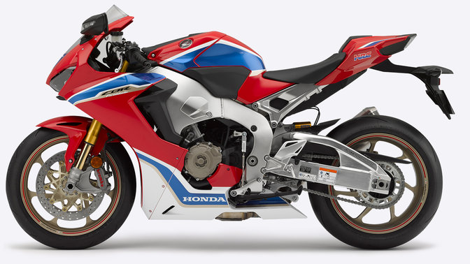Side shot of Honda Fireblade.