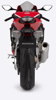 Rear facing Honda Fireblade.