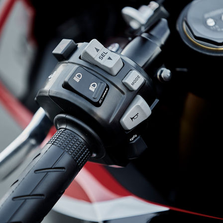 Close up of Honda CBR1000RR Fireblade Power Selector.