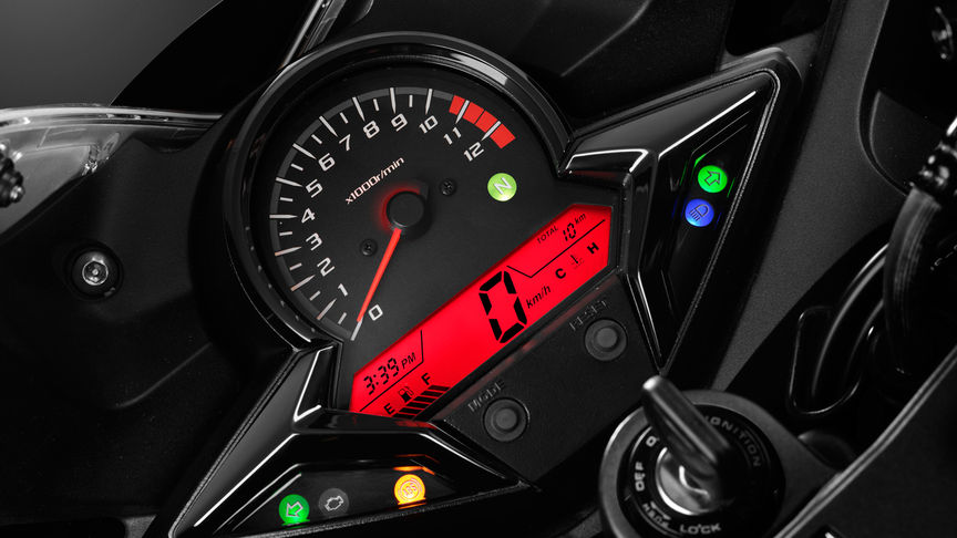 CBR300R Super Sport Studio detail dash display