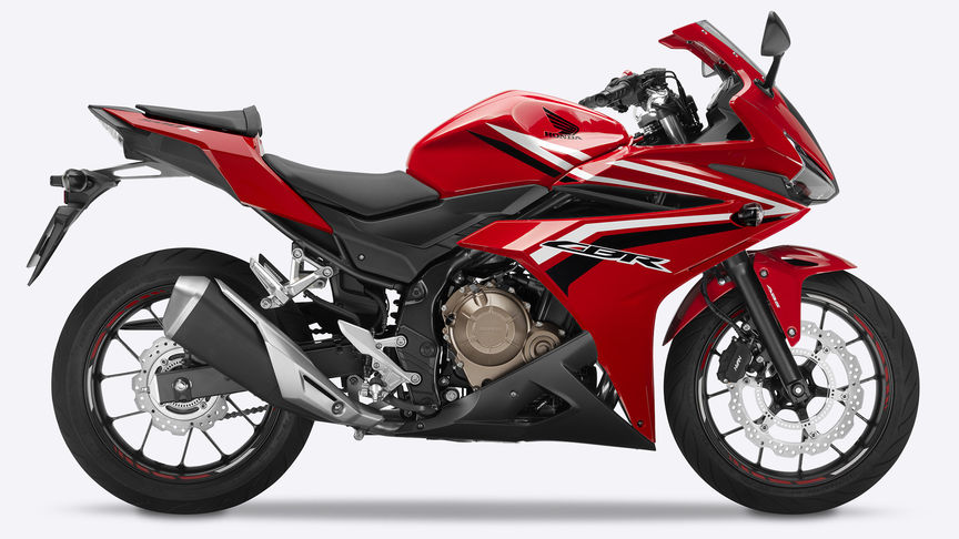 CBR500R freestanding on plain background
