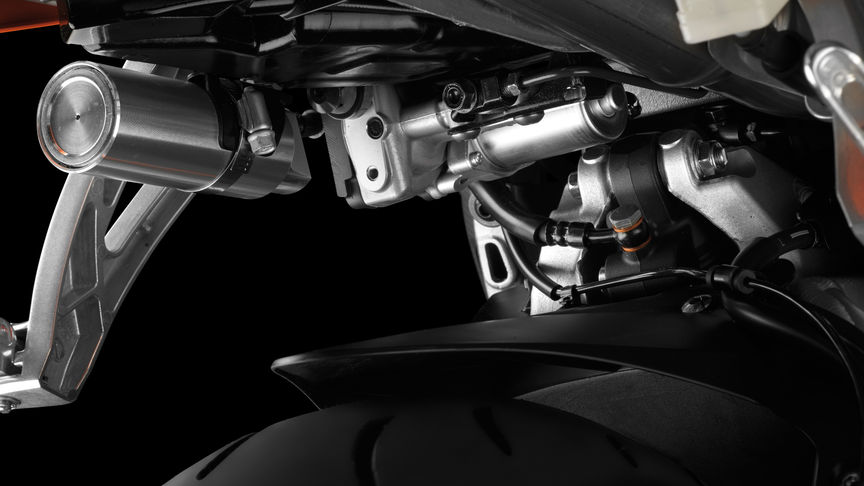 Close-up Pro-lnk suspension system.