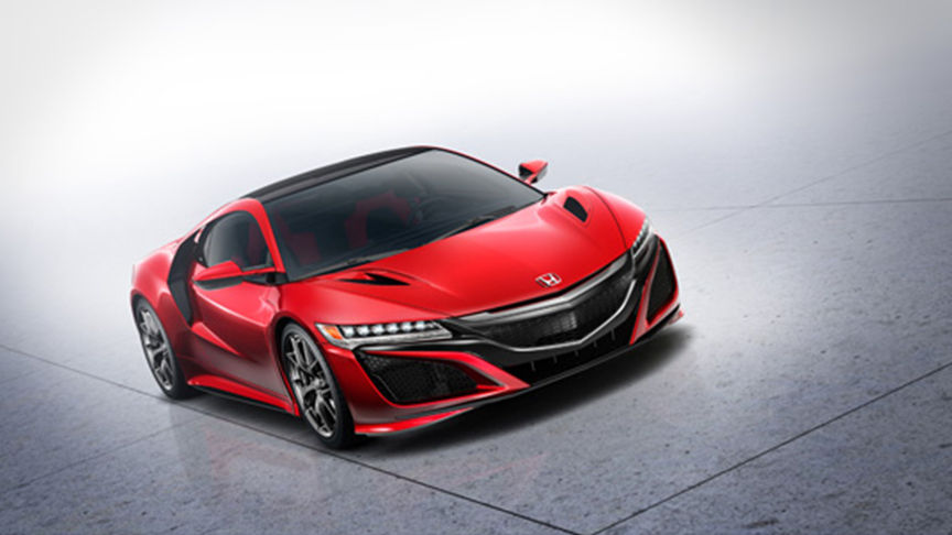 full view of red NSX