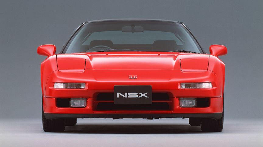 front view of red NSX