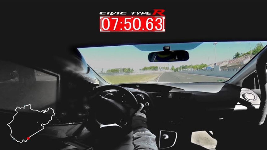 inside view of driver racing type r