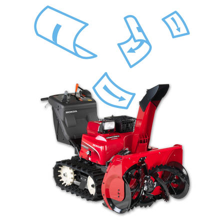 Snowthrower brochure illustration.
