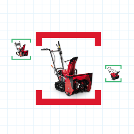 3x Honda snowthrowers with help me choose illustration.