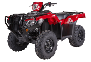 Honda Foreman TRX520 Red Quad Bike Side View