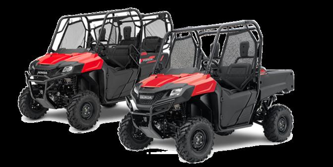 Superior Front Three Quarter Facing Honda Pioneer ATV 700 2 And 700 4.