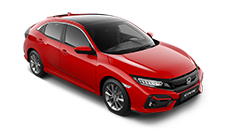 Honda Civic 5 door red.
