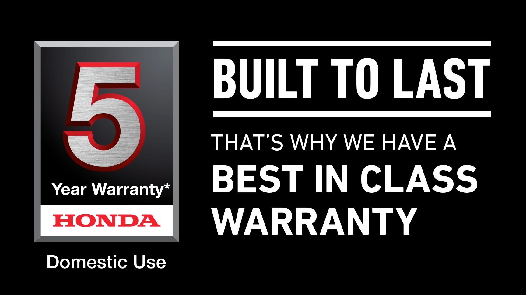 Honda five year warranty logo