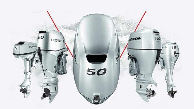 5x Honda Marine engines.